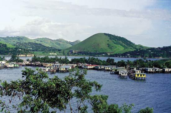 Poblado en Papúa Nueva Guinea