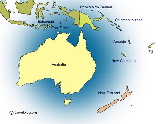 Países de Oceanía