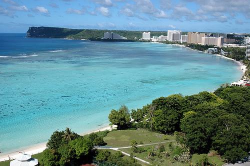 La costa de Guam
