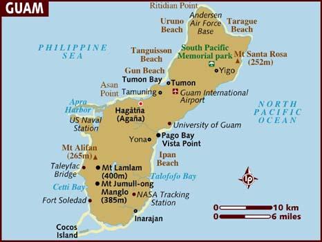 Mapa de Guam