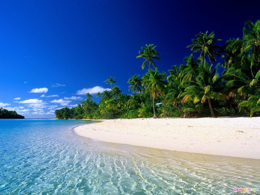 En las islas Cook hay playas de lo más paradisíacas