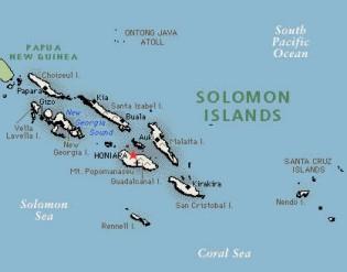 Mapa de las islas Salomón