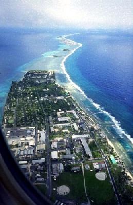 Vista aérea de la ciudad de Majuro