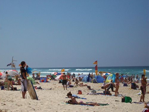 En las playas de Australia se puede disfrutar del agradable clima de este país